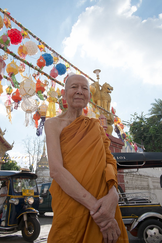 Phathepvistthikoon, the top monk of 1,250 Chiang Mai province temples, photographed at Wat Bupparam