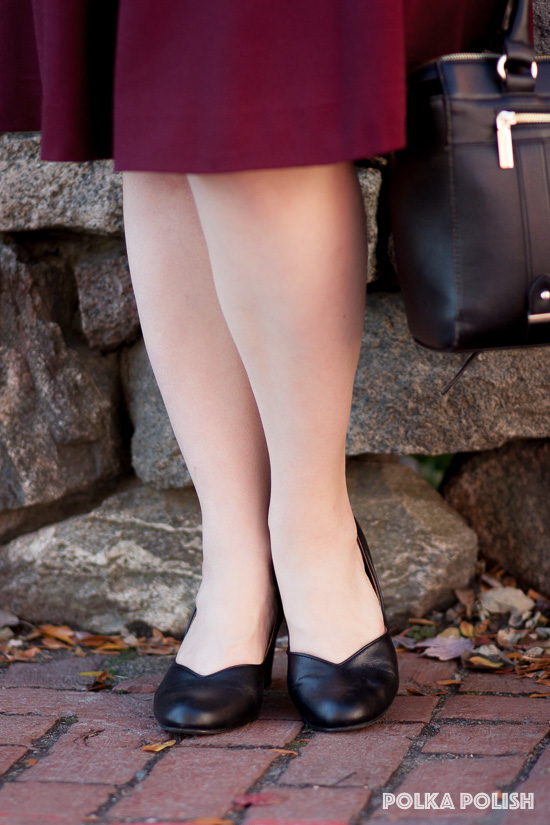 Royal Vintage Shoes Marilyn 1940s inspired pumps in black