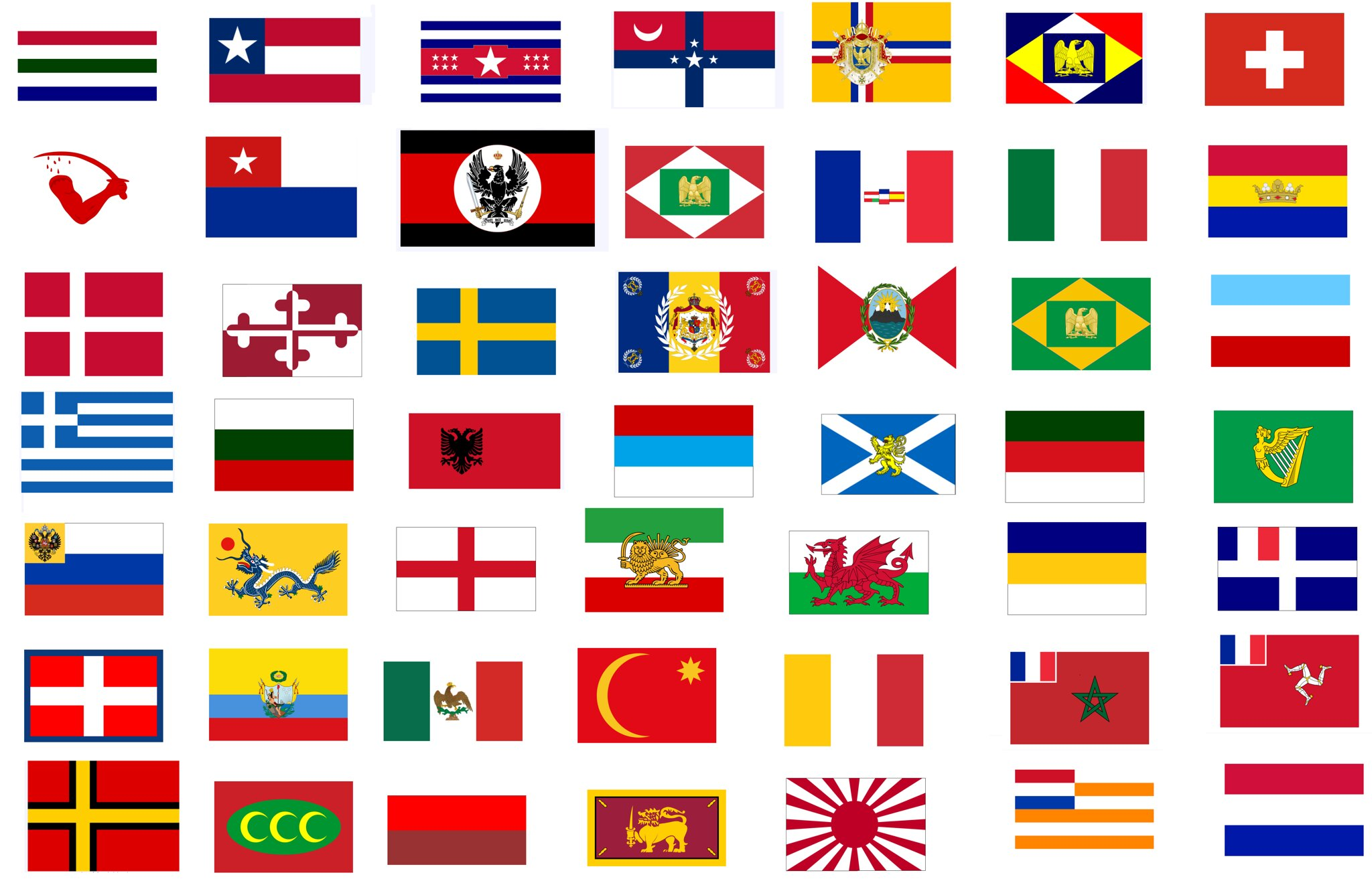 National Flags From The What Madness Is This Alternate