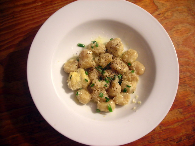 Gnocchi, with French butter and Parmigiano-Reggiano cheese