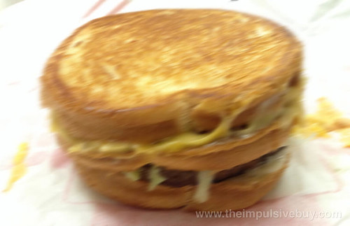 Jack in the Box Stacked Grilled Cheese Burger Munchie Meal Blurred