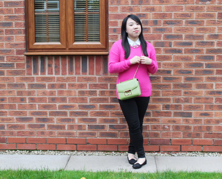 pink and green outfit 2