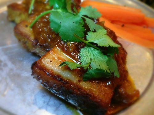 Spiced Mango Pork Belly at Badmaash