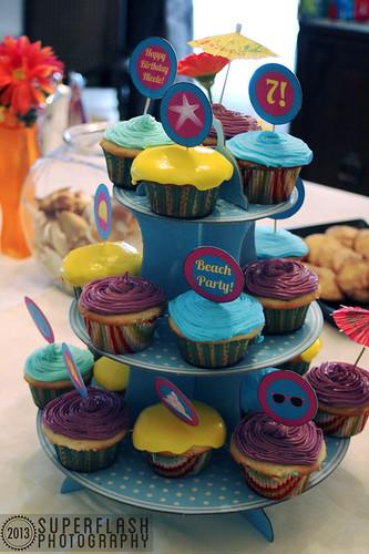 Life's A Beach Party, cupcakes, Superflash Creative,