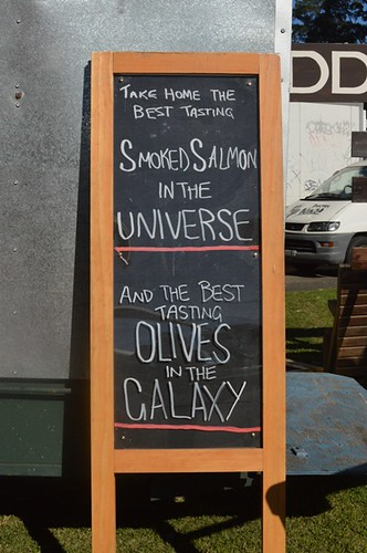 Smoked salmon sign