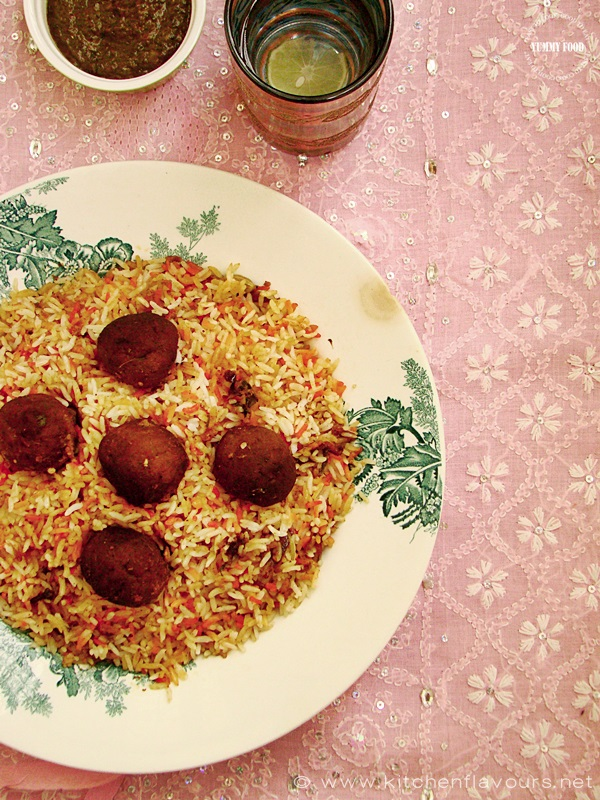 Kofta Biryani - Spicy Lamb Meat Balls Pilaf