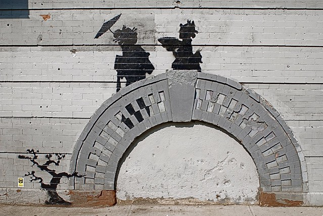 """Banksy's Street Art in Williamsburg, Brooklyn on Day 17 of """"Better Out Than In"""""""