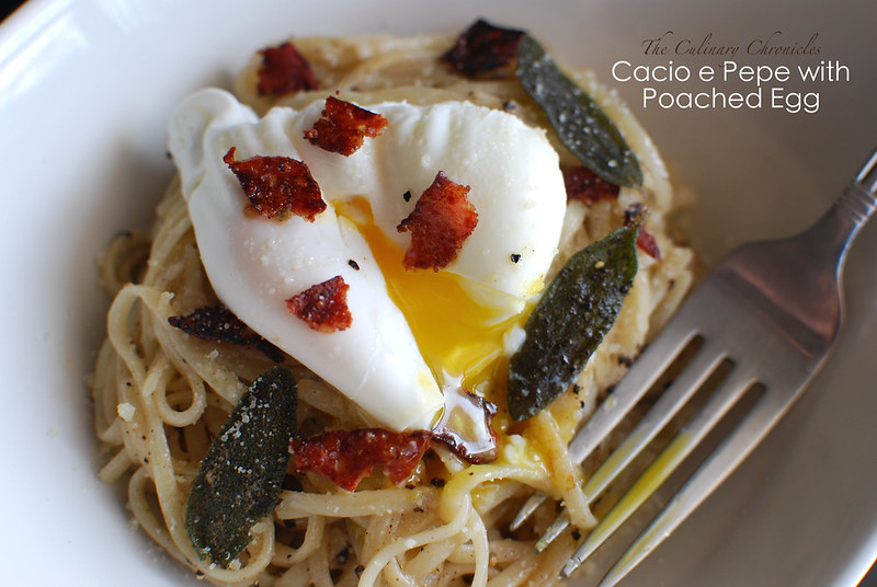 Cacio e Pepe with Poached Egg