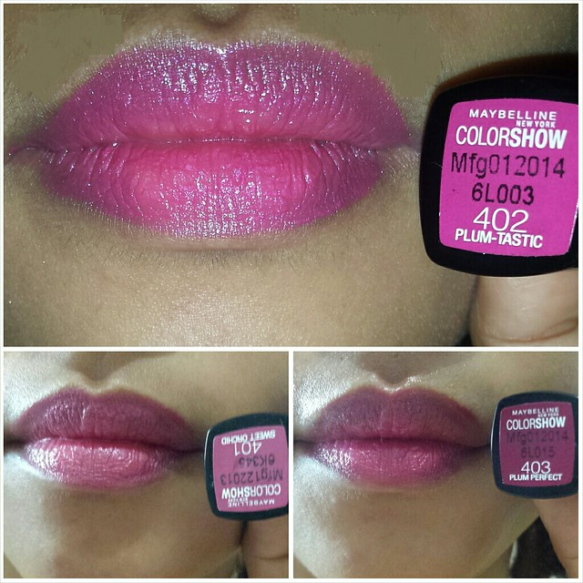 Maybelline ColorShow Lipstick Plum Collection