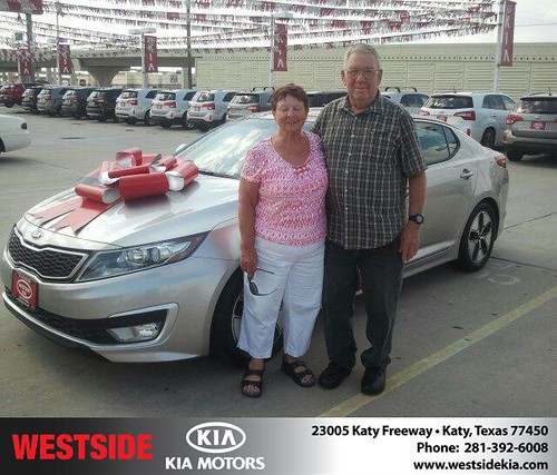 Thank you to John Riffle on the 2012 Kia Optima from Gil Guzman and everyone at Westside Kia! by Westside KIA