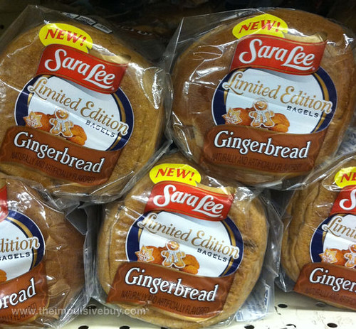 Sara Lee Limited Edition Gingerbread Bagels
