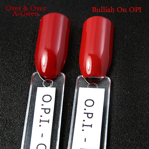 O.P.I. Over & Over A-Gwen vs. Bullish On OPI