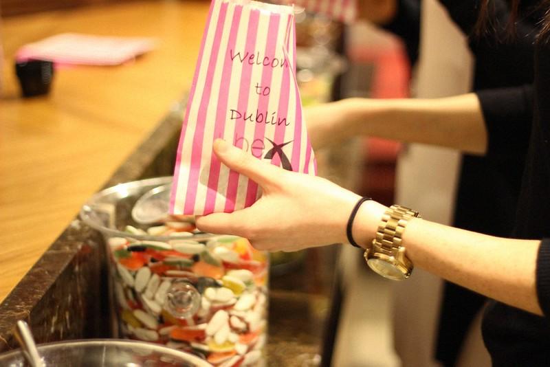 candy bar Doubletree Hilton TBEX Dublin
