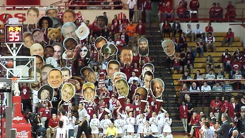 Big heads at IU vs Stony Brook, including JMV Sucks