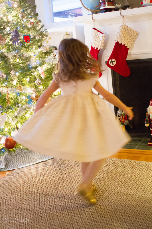 gold dot christmas dress