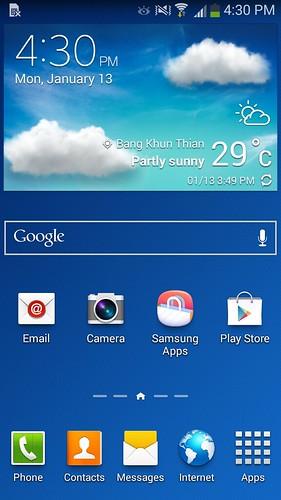Home screen ของ Samsung Galaxy Grand 2
