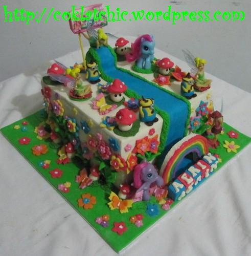 Cake Minion, my little pony dan tinkerbell