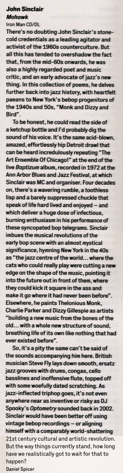 John Sinclair - Mohawk - The Wire - March 2014 album review
