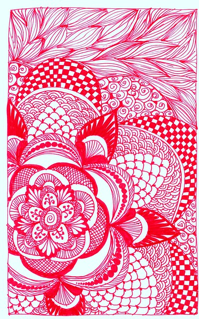 100 Ideas: Draw in red