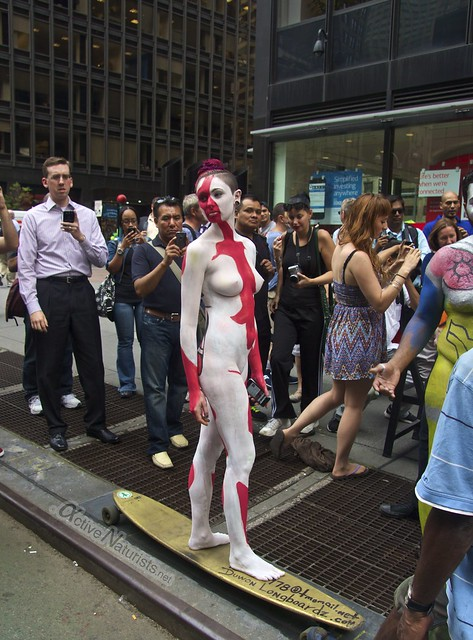 naturist 0006 body paint art, Times Square, New York, NY, USA