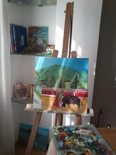 mi rincón de pintura . by alialba