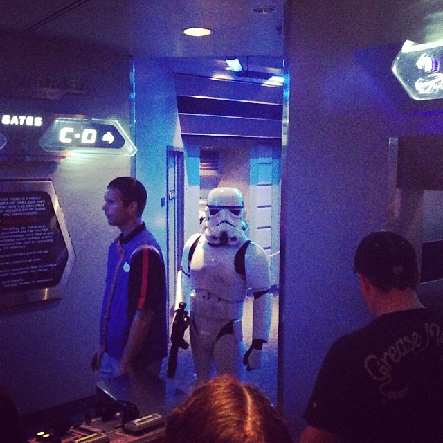 """""""I have a very bad feeling about this."""" #starwars #disneyland"""