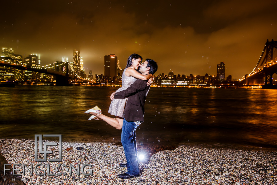 Koel & Sanjeev Destination Engagement Session in New York City