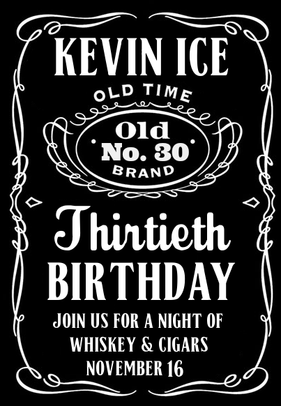 Jack Daniels Invitation Template Sample Of Application Letter Templates
