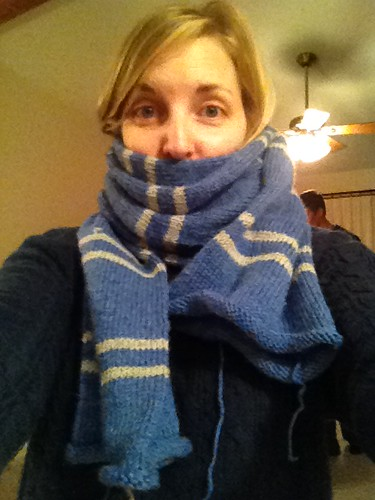 i actually finished knitting my ravenclaw scarf!!! #project365