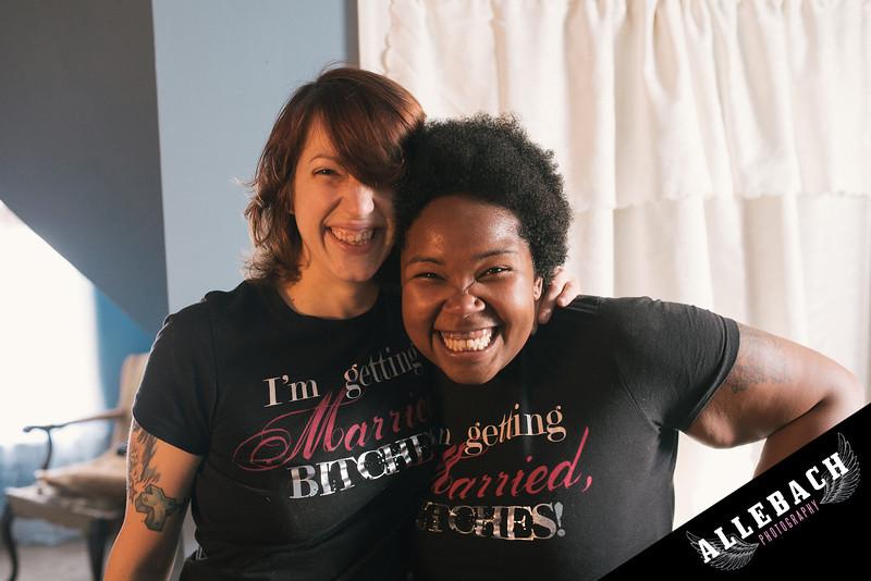 Budget Backyard Lesbian Wedding