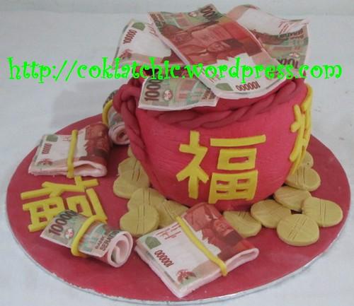 Cake Pundi Uang / cake imlek