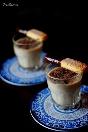 Coffee and rum panna cotta