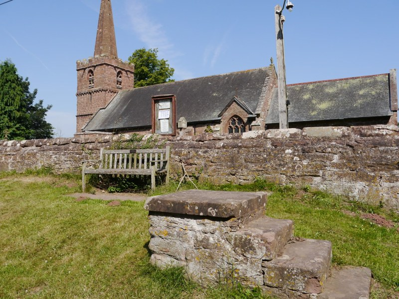 Kings Caple church - mounting stone