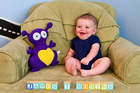 James, month five