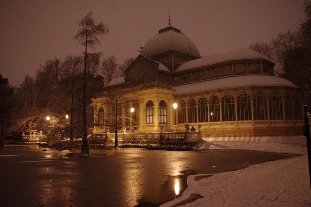3. Noche y nieve en El Retiro. Autor, Pedro Pimentel