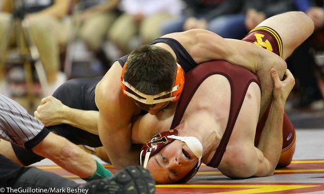 165 #4 Chandler Rogers (Oklahoma State) fall Brandon Kingsley (Minnesota) 1:24