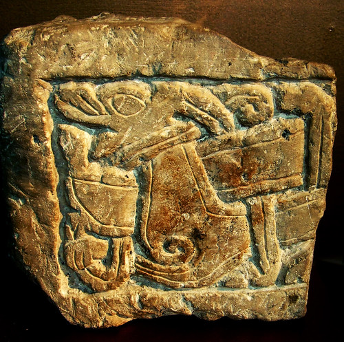 Viking animal carving