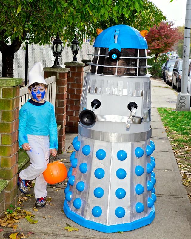 A Dalek and a (Vampire) Smurf