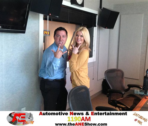 Bubba of Chrysler Jeep Dodge City of McKinney parties with Actress/Model Jennifer Reed during The ANE Show in the Clear Channel Radio Studios! by theaneshow