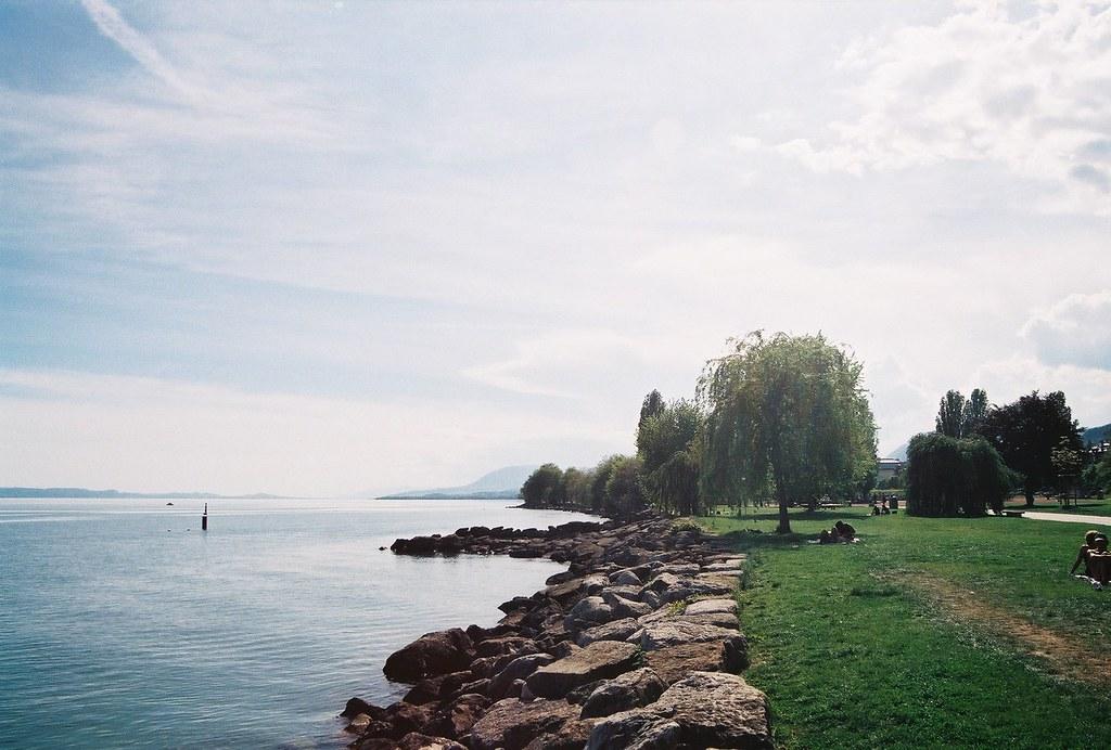 Jeunes rives et le lac de Neuchâtel