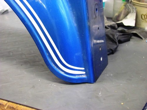 Rear Fender Pinstripe Detail