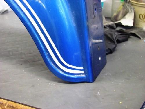 Rear Fender Pinstripe Detail