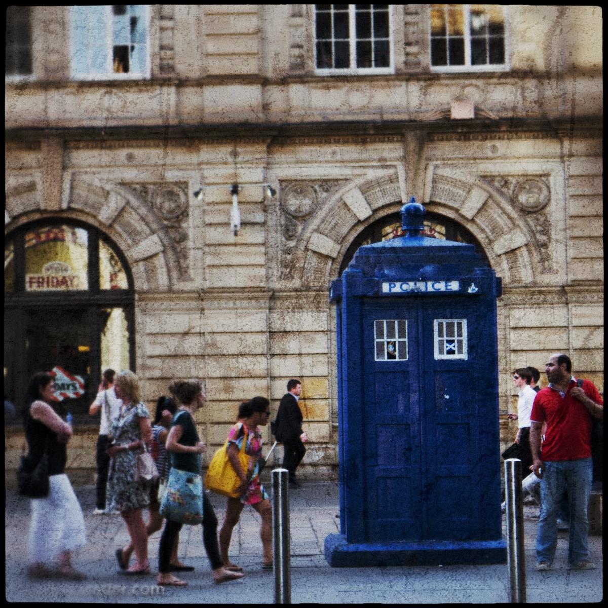 Una TARDIS en Buchanan Street