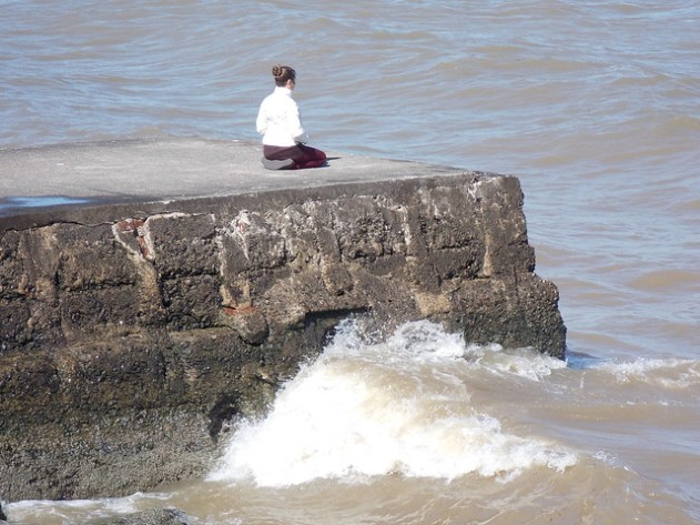 Meditando no rio