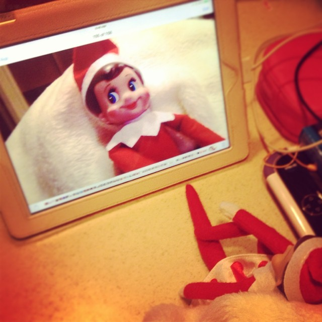 Seems like our elf caught Maya's #selfie bug! #ElfontheShelf