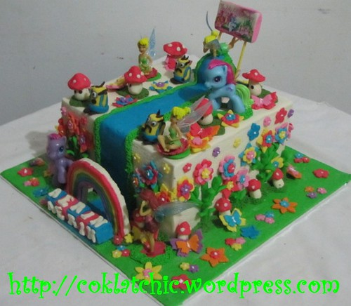 Cake Minion, my little pony dan tinkerbell