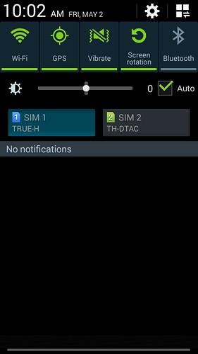 Notifications ของ Samsung Galaxy Note 3 Neo