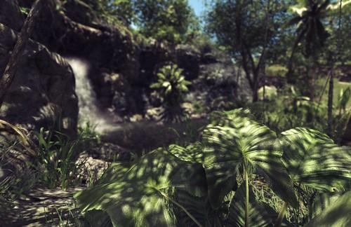 Jungle Road Waterfall