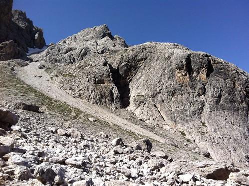Blick hinauf Abstieg Elferscharte