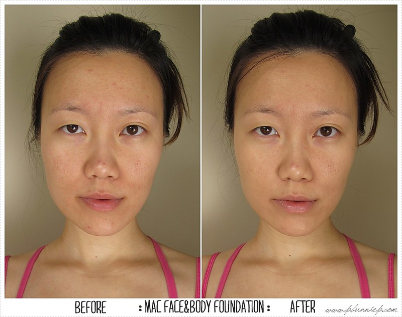 MAC Face and Body Foundation BeforeAfter